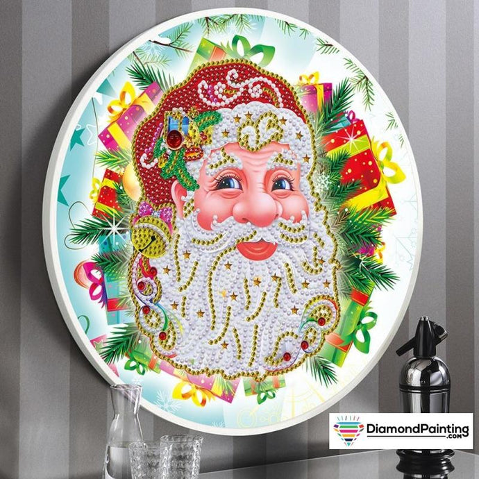 Diamond Painting Framed Christmas Kit (Santa)