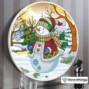 Diamond Painting Framed Christmas Kit (Snowman)