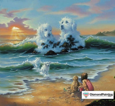 Dog In The Sea Diy Diamond Painting Kit 25X25Cm