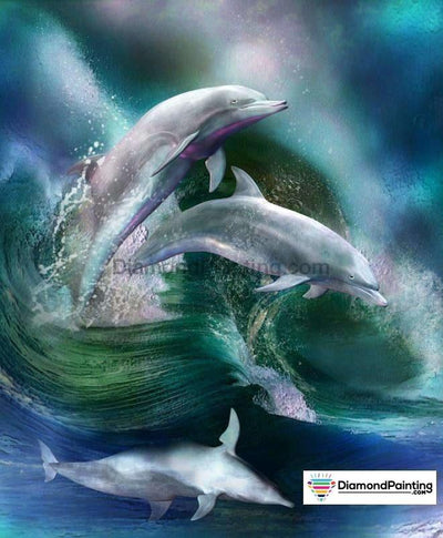 Dolphins Dancing Diy Diamond Painting Kit