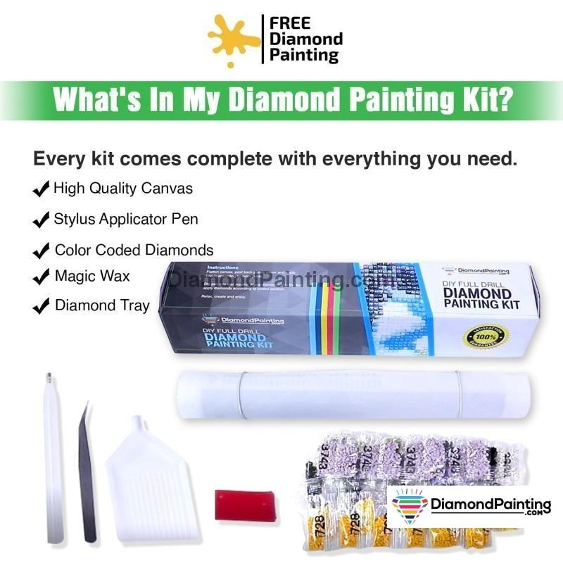 Eternal Rose Heart Diamond Painting Kit Free Diamond Painting