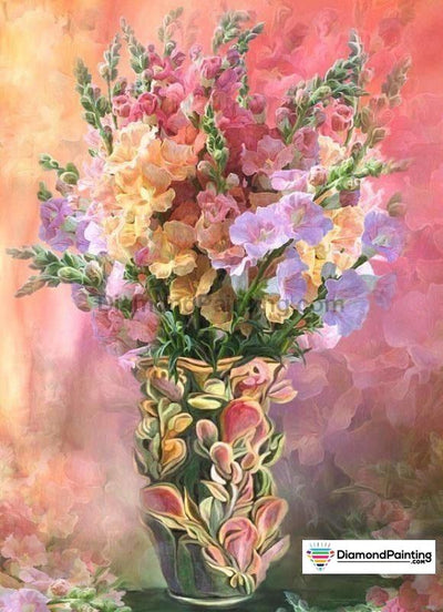 Flowers In A Vase 5D Diamond Art Kit 20X30Cm