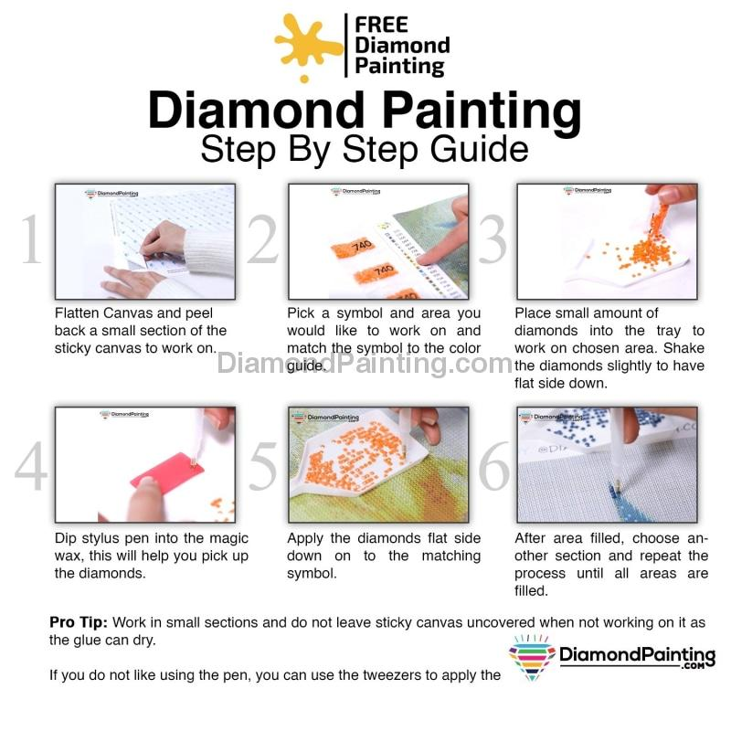 Flowery Art 5D DIY Diamond Painting Kit Free Diamond Painting