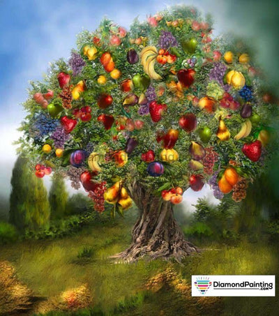 Fruits Tree 5D Diy Diamond Painting Kit 20X25Cm