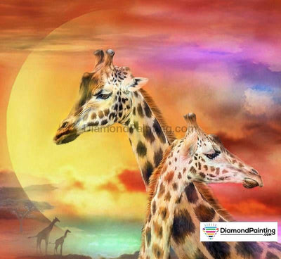 Giraffe Sunset 5D Diamond Art Kit