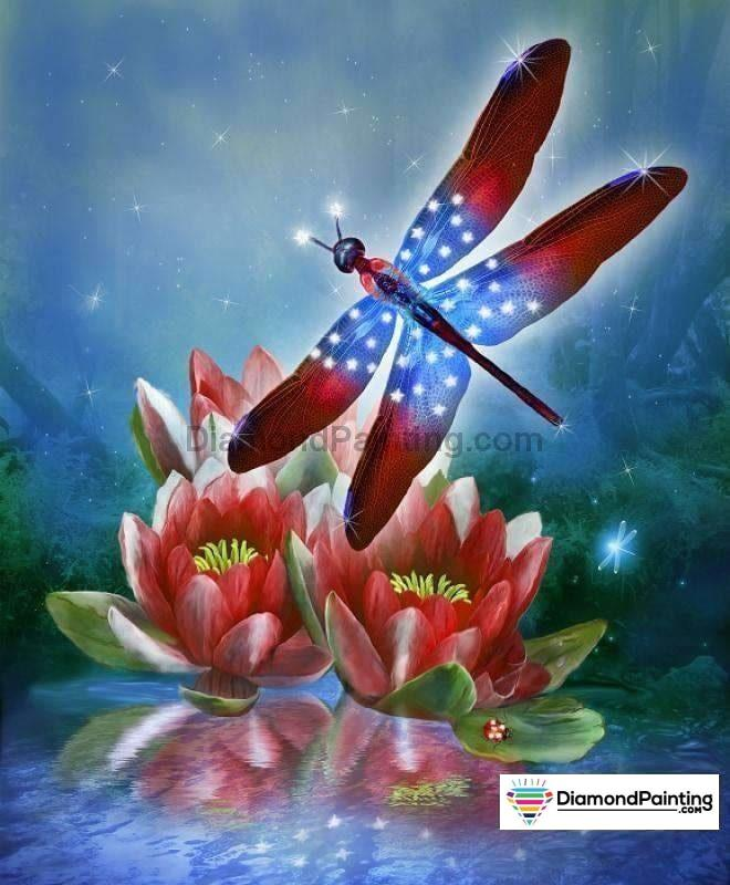 Gorgeous Dragonfly Diy Diamond Painting Kit 20X25Cm
