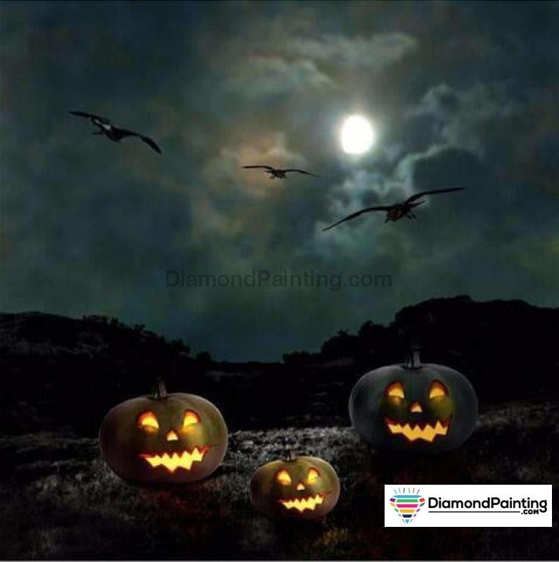 Halloween Diamond Art Kits For Adults Free Diamond Painting Black Halloween Square 20x20cm