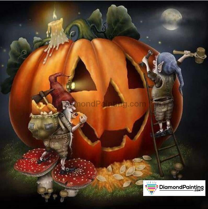 Halloween Diamond Art Kits For Adults Free Diamond Painting Jack O Ween Square 20x20cm
