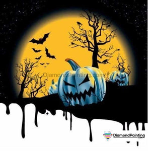 Halloween Diamond Art Kits For Adults Free Diamond Painting Scary Moonlight Square 20x20cm
