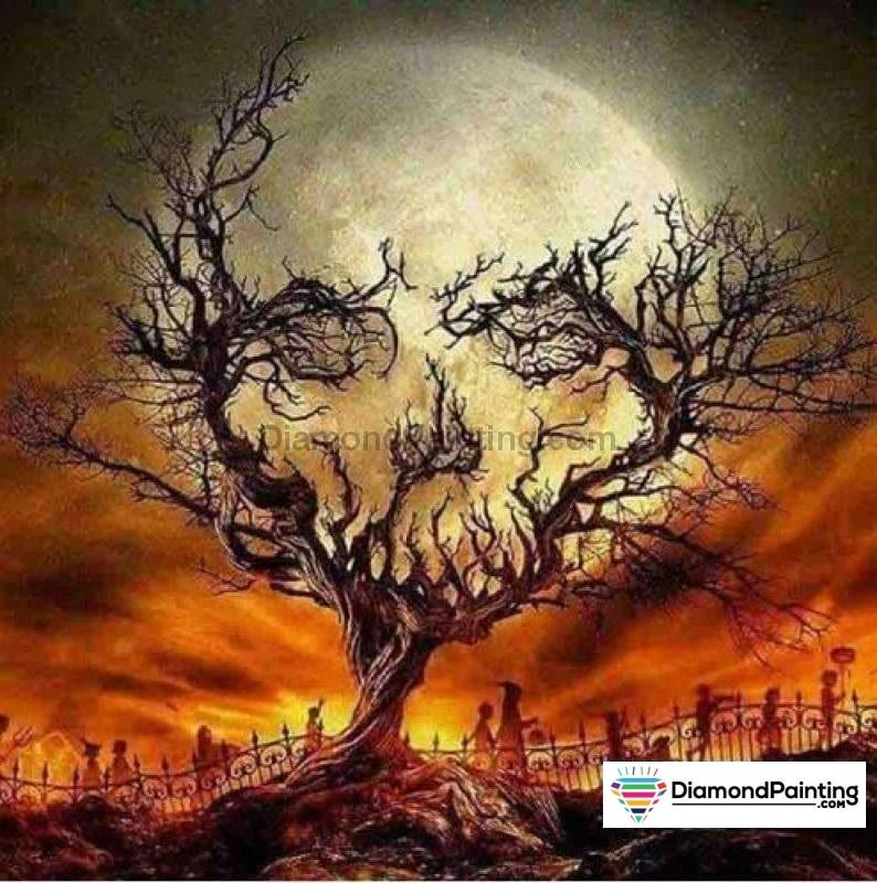 Halloween Diamond Art Kits For Adults Free Diamond Painting Skulloween Square 20x20cm