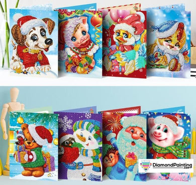 Holiday Christmas Diamond Painting Cards