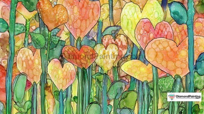 Love Flower 5D Diamond Art Kit 50X90Cm