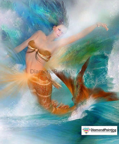 Mermaid Woman Diy Diamond Painting Kit 20X25Cm
