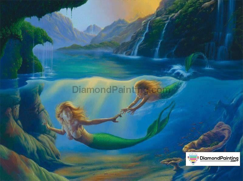Ships From The USA - Mermaid Mom 40x30cm Free Diamond Painting