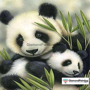 Ships from the USA - Panda Love 20x20cm Free Diamond Painting