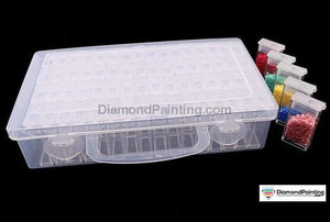 Ships From USA - 64 Pack Tic Tac Style Diamond Art Storage Box Free Diamond Painting