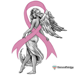 Ships From Usa - Breast Cancer Awareness Angel 20X20Cm