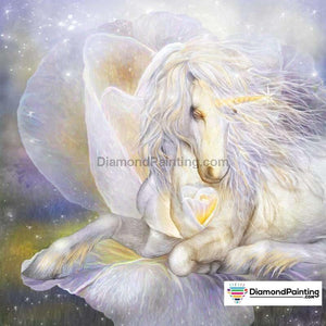 Ships From USA - Heart of a Unicorn 30x30cm Free Diamond Painting