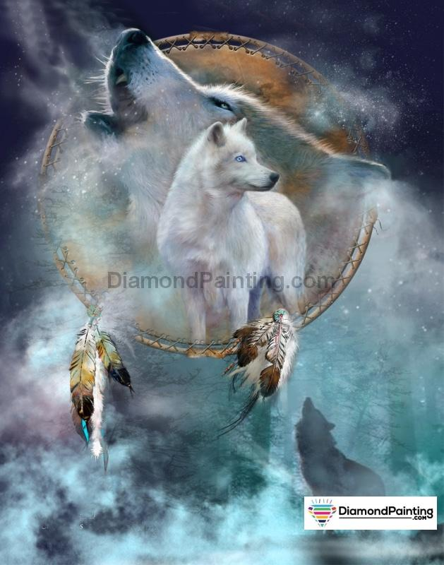 Ships From USA - Spirit of the Wolf 30x30cm Free Diamond Painting