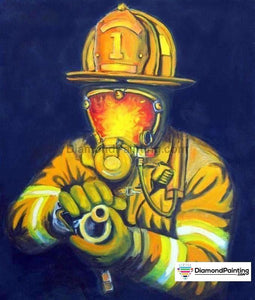 Ships From USA - The Fireman 60x40cm Free Diamond Painting