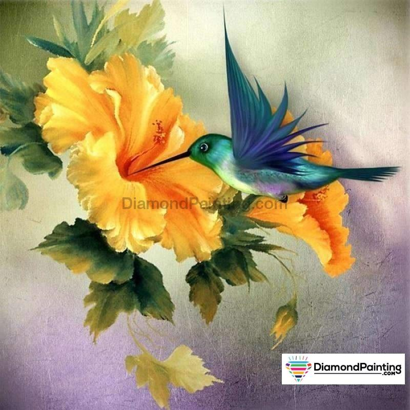 Ships From USA - The Hummingbird 60x40cm Free Diamond Painting