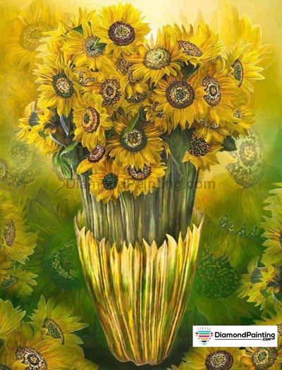 Sunflower Bucket 5D Diy Diamond Painting 20X25Cm