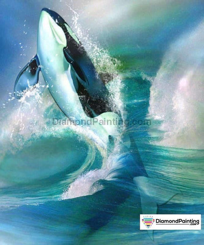 Swimming Shark 5D Diy Diamond Painting 20X25Cm