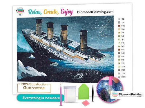 Titanic Sinks Diamond Painting Kits