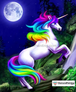 Unicorn Moon Diamond Painting Kit Free Diamond Painting