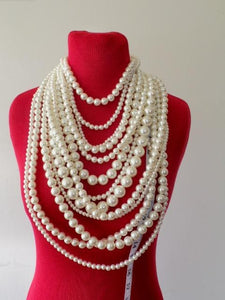 PEARL NECKLACE 13 STRANDS