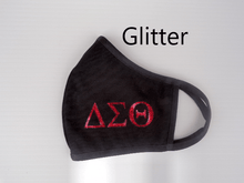 Load image into Gallery viewer, Mask Black - Delta Sigma Theta