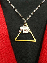 Load image into Gallery viewer, TRIANGLE ELEPHANT NECKLACE