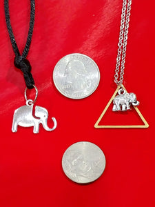 TRIANGLE ELEPHANT NECKLACE