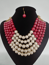 Load image into Gallery viewer, PEARL NECKLACE SET - COLOR BLOCK