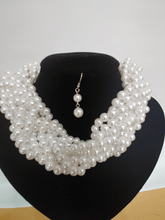 Load image into Gallery viewer, DOUBLE TRI TWIST PEARL CHOKER SET