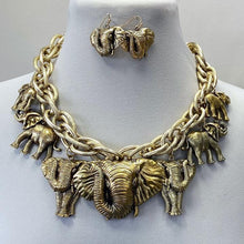 Load image into Gallery viewer, Necklace Set - Elephants Mesh