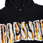 Load image into Gallery viewer, SHREDDED FLAMES HOODIE - Blessed Apparel
