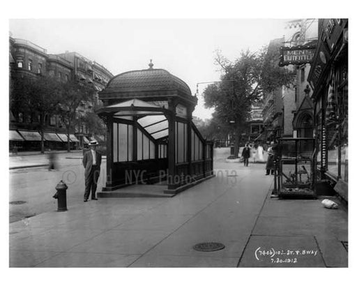103rd Street & Broadway Train Station  - Upper West Side - New York, NY 1910 Old Vintage Photos and Images