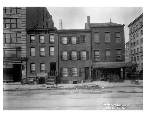 105, 107, 109 Varick Street  - Tribeca  NY 1914 Old Vintage Photos and Images