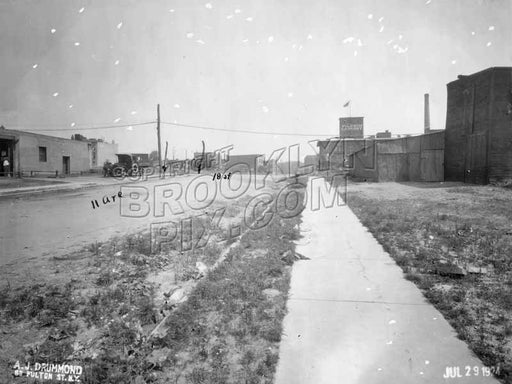 11th Avenue looking north toward 18th Street. Pilgrim Laundry in distance, 1924 Old Vintage Photos and Images