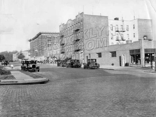 11th Avenue looking northeast from Prospect Avenue toward Sherman Street, showing P.S. 154, c.1930 Old Vintage Photos and Images