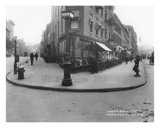11th & Greenwich Avenue - Greenwich Village - Manhattan 1914 A Old Vintage Photos and Images