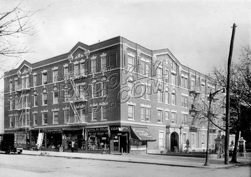 1215 Eastern Parkway, northeast corner of Rochester Avenue, 1924 Old Vintage Photos and Images