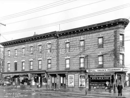1233-1235 Prospect Avenue at Reeve Place, 1928 Old Vintage Photos and Images