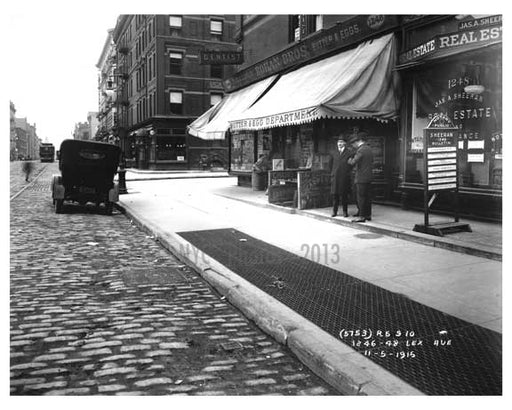 1246 - 1248 Lexington Avenue  & 86th Street - Upper East Side -  Manhattan NYC 1915 Old Vintage Photos and Images