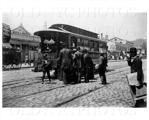 126th St between Lexington & 3rd Ave Third Ave Railroad Manhattan NYC 1897 Old Vintage Photos and Images