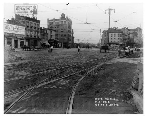 138th Street & 3rd Ave - Harlem -  Manhattan NYC 1914 A Old Vintage Photos and Images