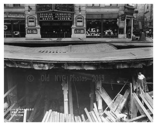 1393 Broadway (& 38th Street)  - Midtown Manhattan 1915 Old Vintage Photos and Images