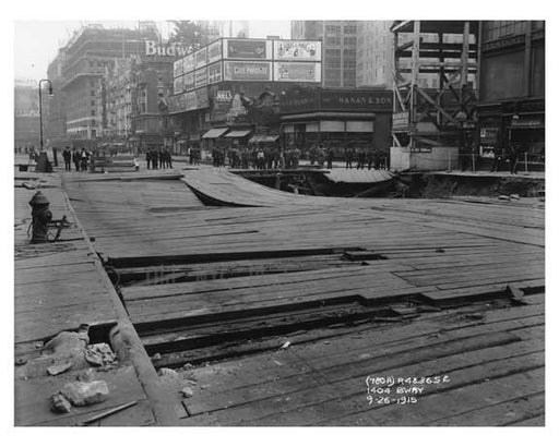 1404 Broadway  - Theater District - Midtown Manhattan 1915 Old Vintage Photos and Images