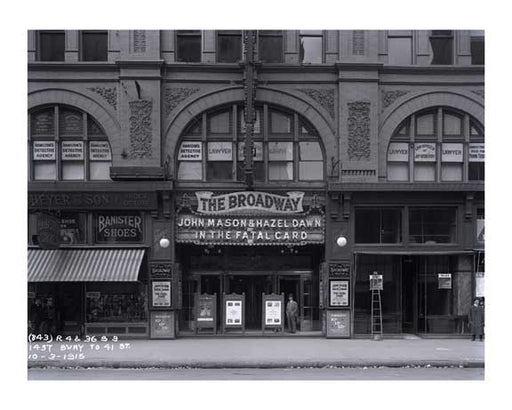 1437 Broadway to 41st Street - Broadway Theater - Times Square - New  York, NY 1915 Old Vintage Photos and Images